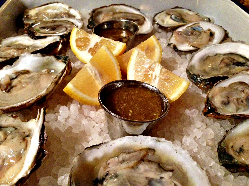 oysters with champaign mignonette