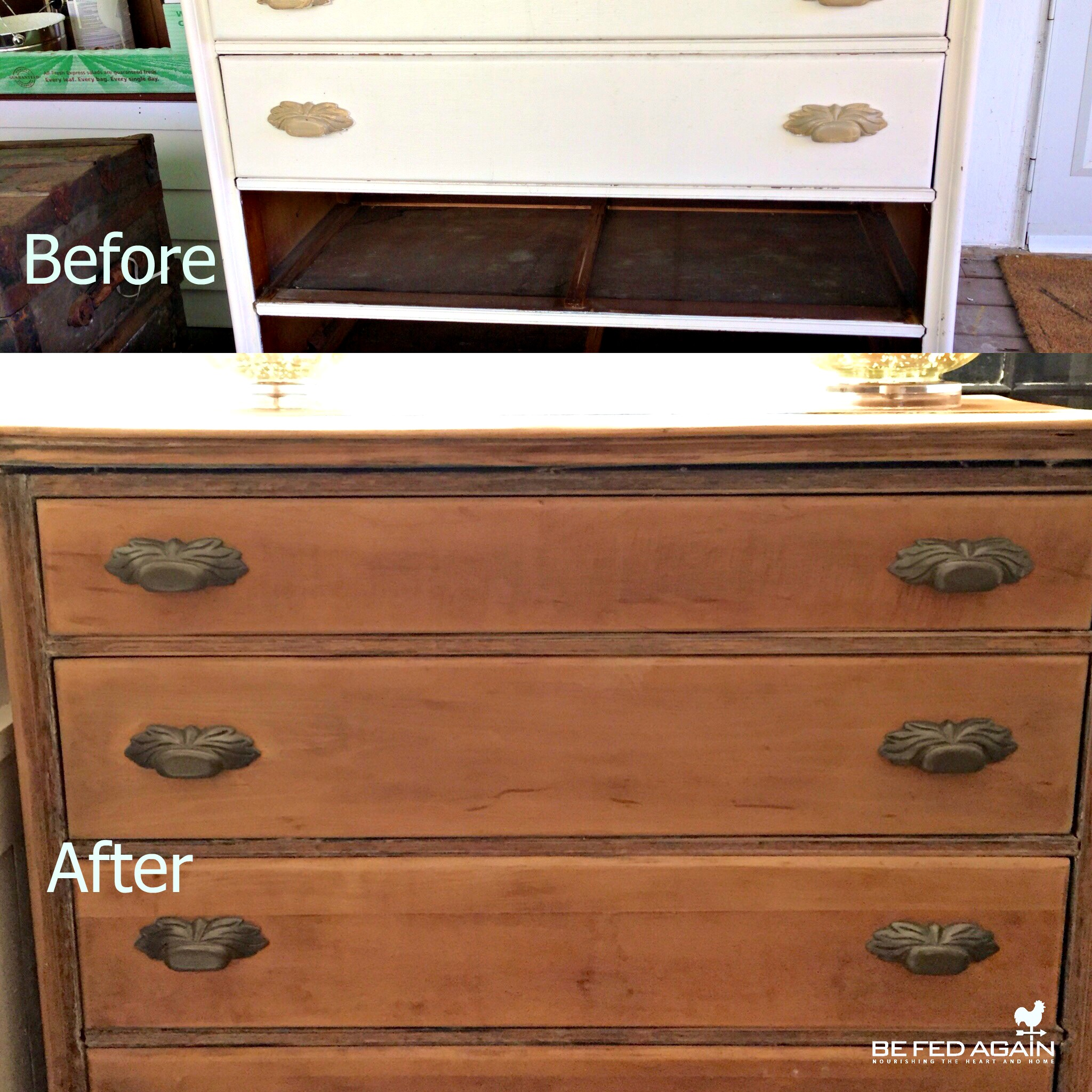 Wagner heat gun - dresser before and after