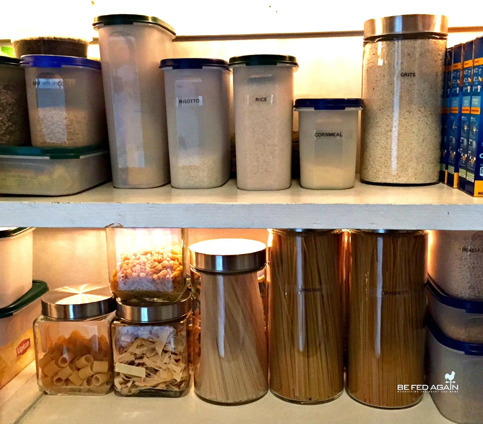 pantry organization - keeping fresh with containers