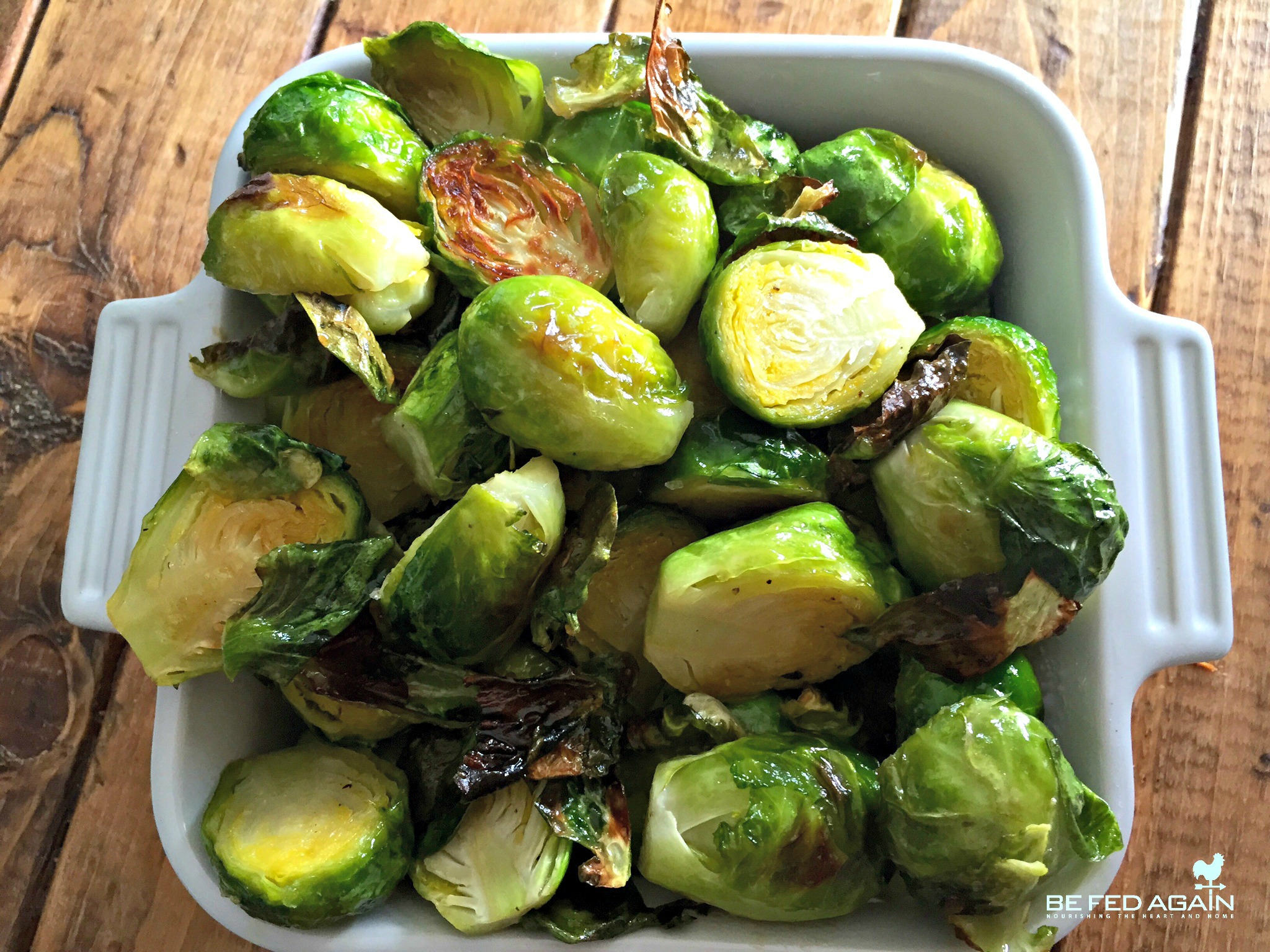 maple syrup - maple roasted brussel sprouts 2