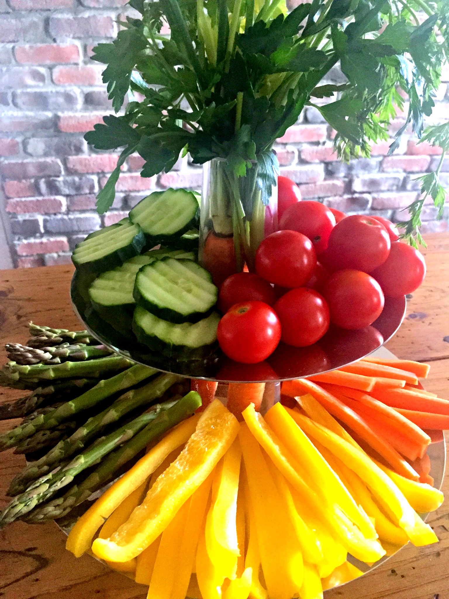 UncommonGoods - two tiered tray with crudite