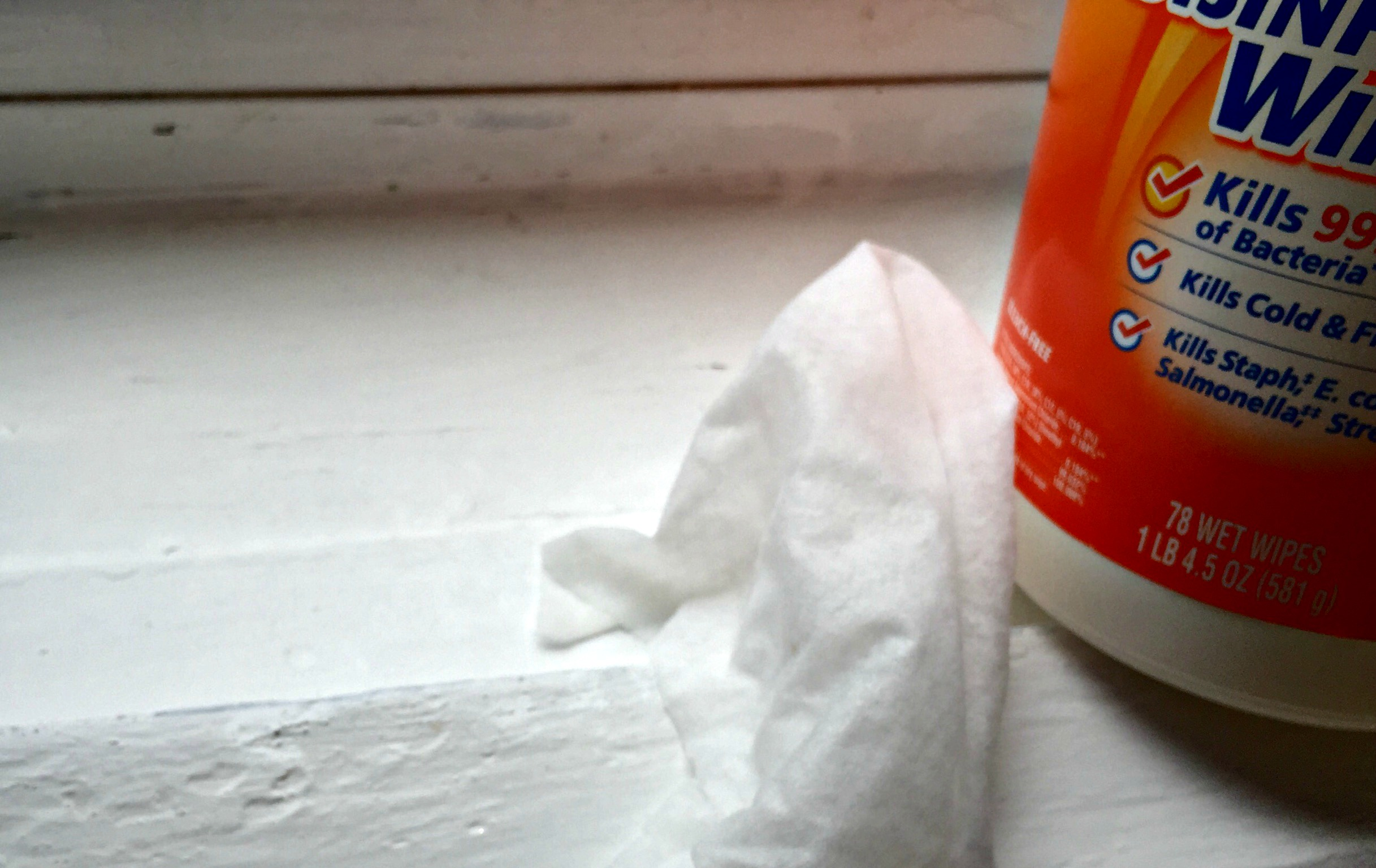spring cleaning - cleaning the windowsill